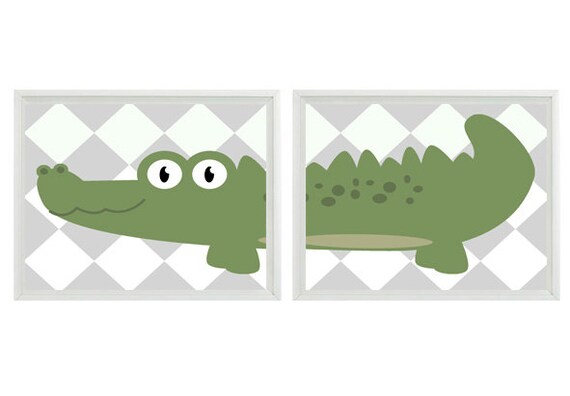 Best Alligator Nursery Wall Art Prints Gray Green By Rizzleandrugee This Month