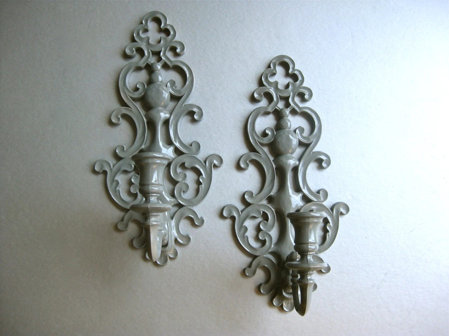 Best Vintage Candle Sconces Gray Sconce Candle Holders By Swede13 This Month