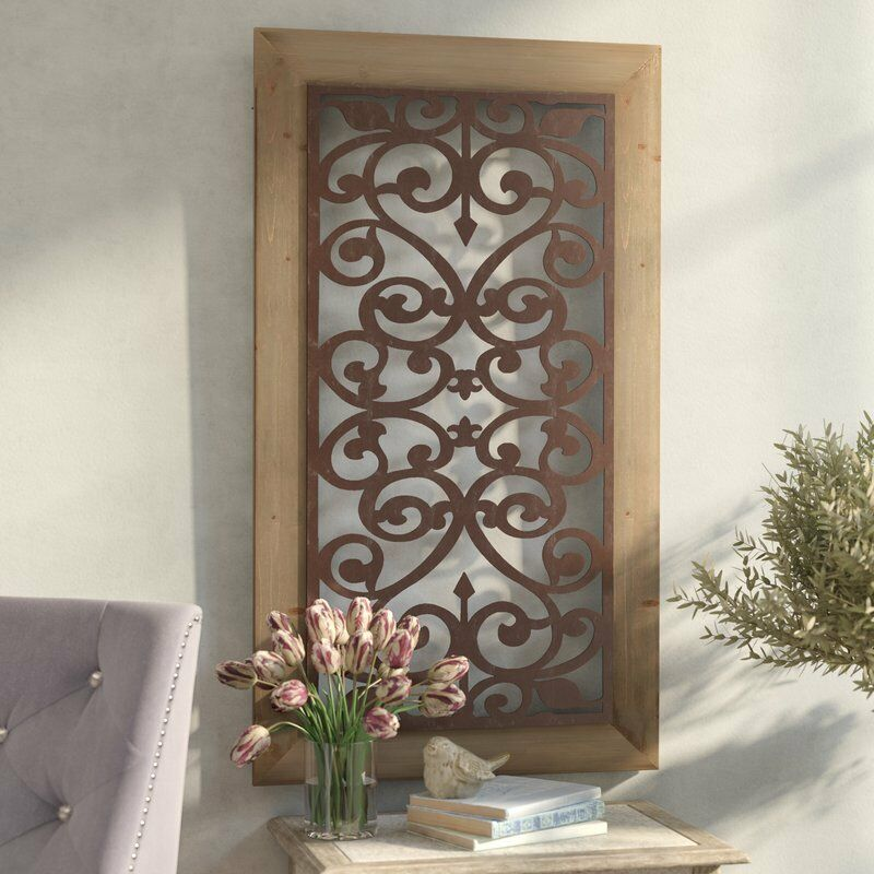 Best Large Metal Wood Wall Panel Antique Vintage Rustic Chic This Month