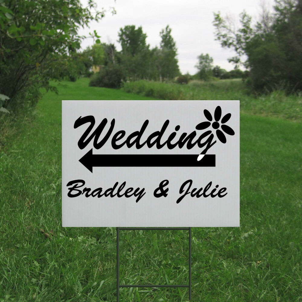 Best Custom Personalized Wedding Yard Lawn Sign Directional This Month