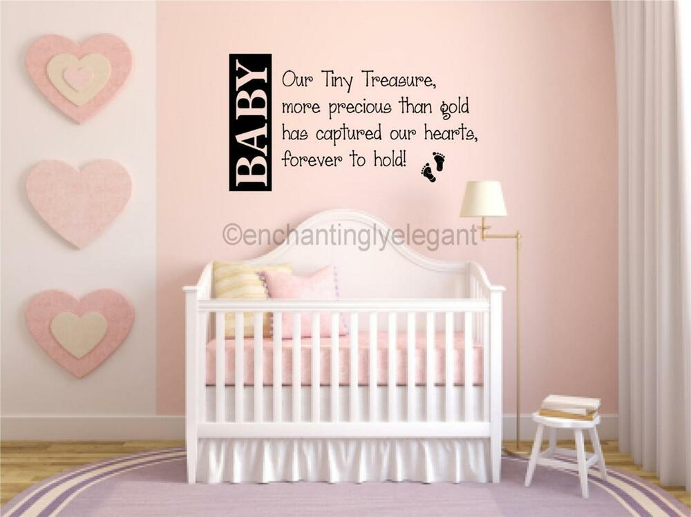 Best Baby Our Tiny Treasure Nursery Room Decor Vinyl Decal Wall This Month
