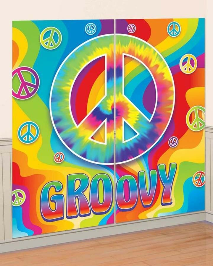 Best Feeling Groovy 60 S 70 S Hippie Peace Sign Scene Setter This Month