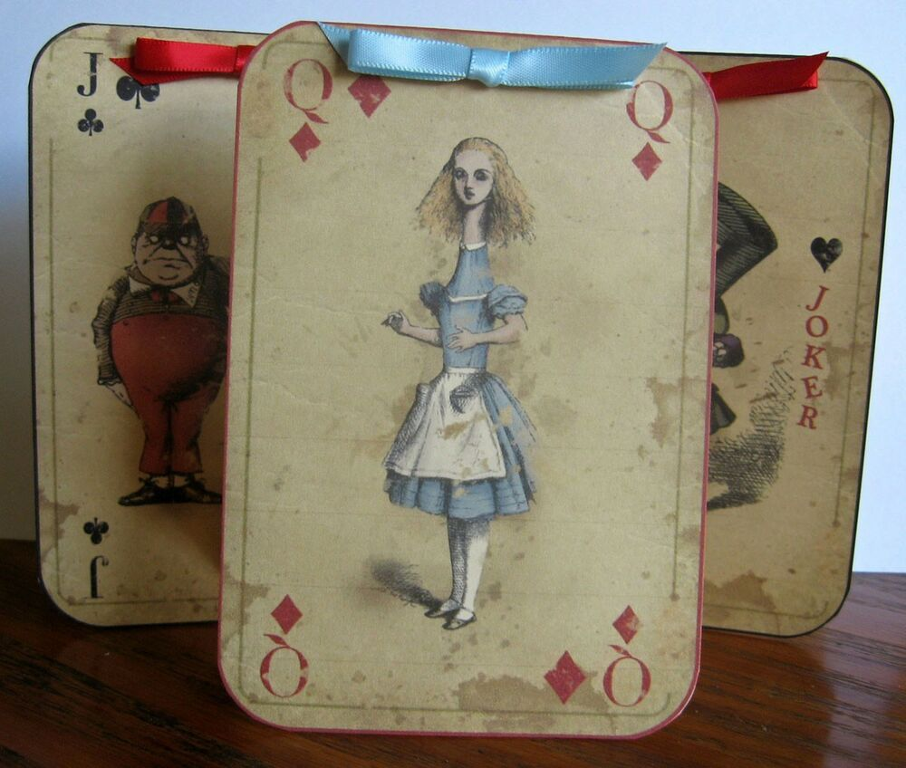Best Alice In Wonderland 6 Large Playing Card Tent Card Party This Month