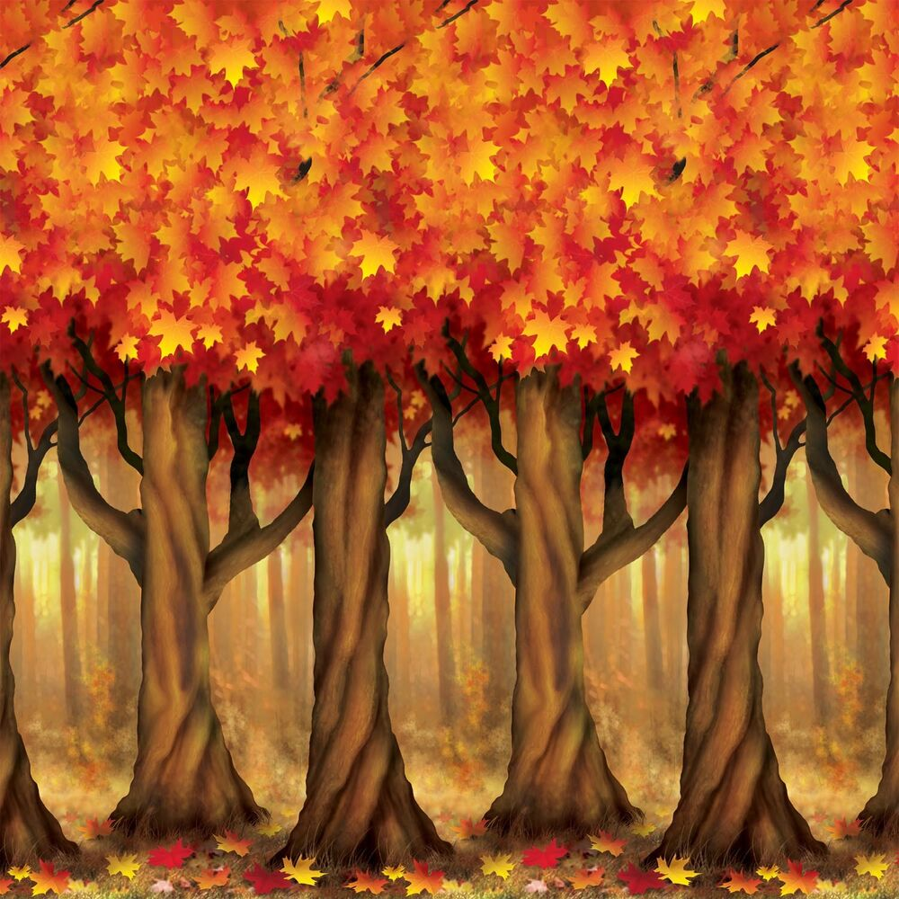 Best Fall Thanksgiving Party Decoration Mural Autumn Trees This Month