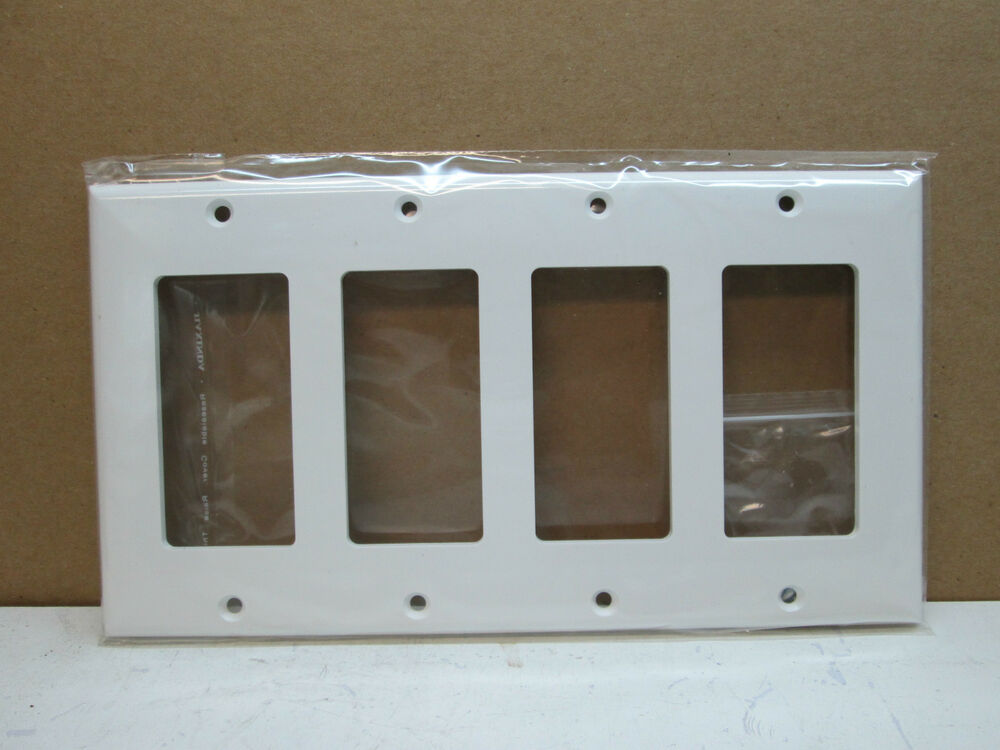 Best Lot Of 10 Premier Four 4 Gang Decorator Rocker Switch This Month