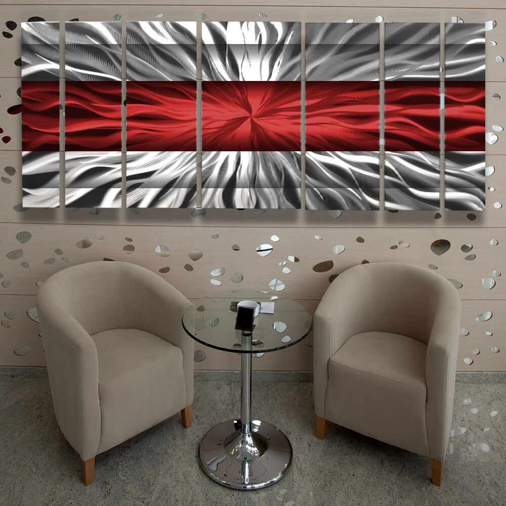Best Metal Wall Art Modern Contemporary Abstract Sculpture Red This Month