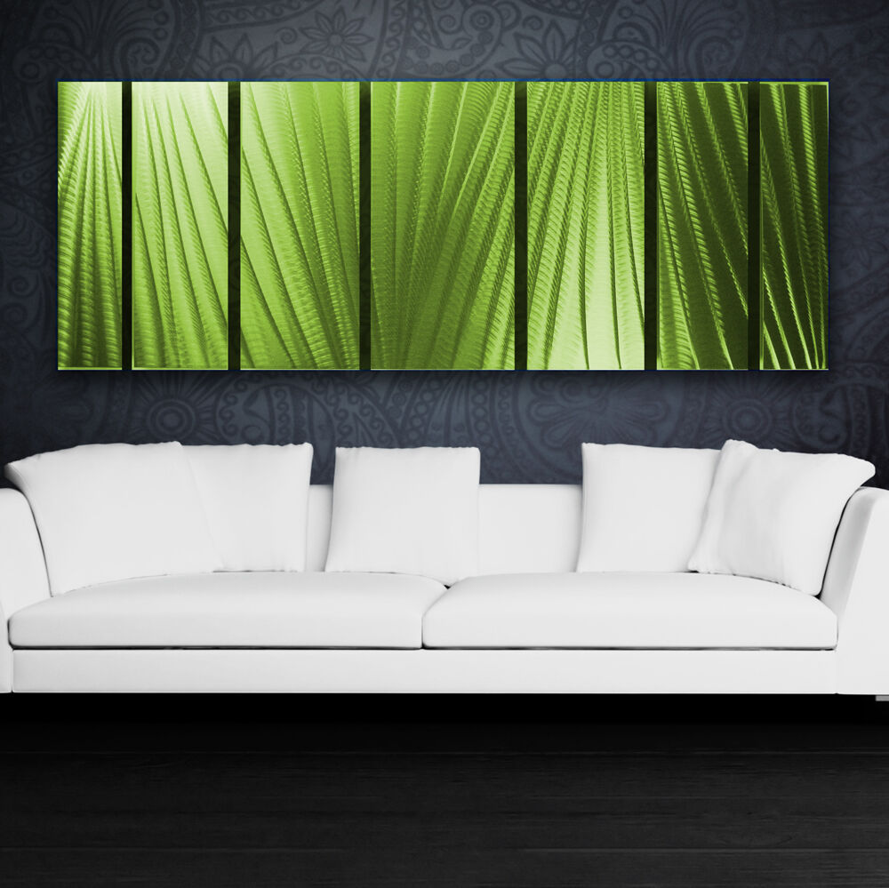 Best Modern Abstract Metal Wall Art Green Painting Sculpture This Month