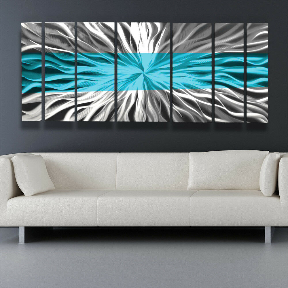Best Metal Wall Art Blue Modern Abstract Sculpture Painting This Month