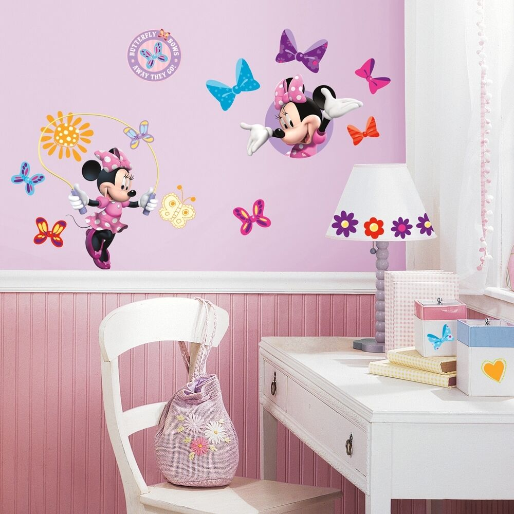 Best 33 New Minnie Mouse Bow Tique Wall Decals Disney Stickers This Month