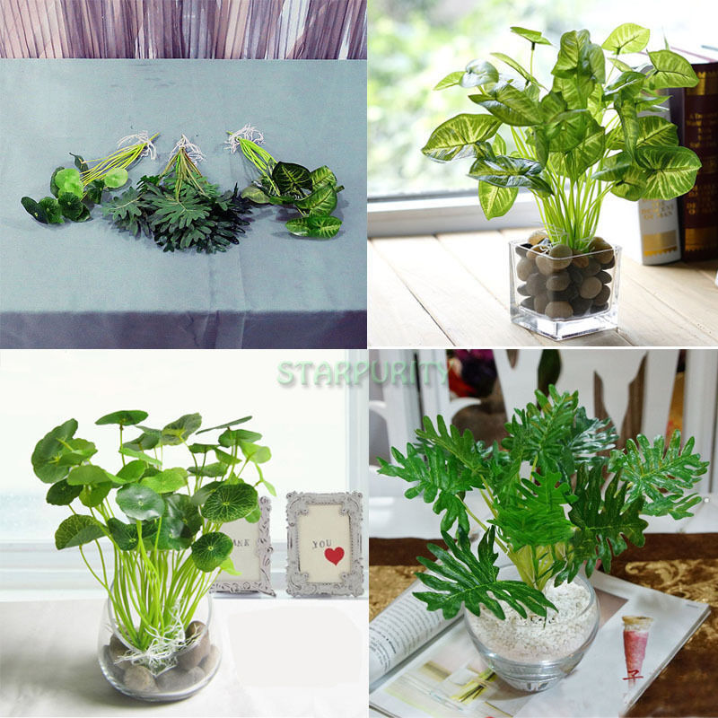 Best Artificial Silk Lifelike Green Leaves Plant Diy Home This Month
