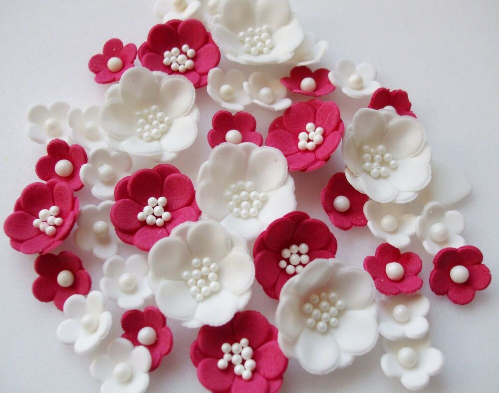 Best Ruby Wedding Petals Cupcake Sugarpaste Edible Blossom This Month
