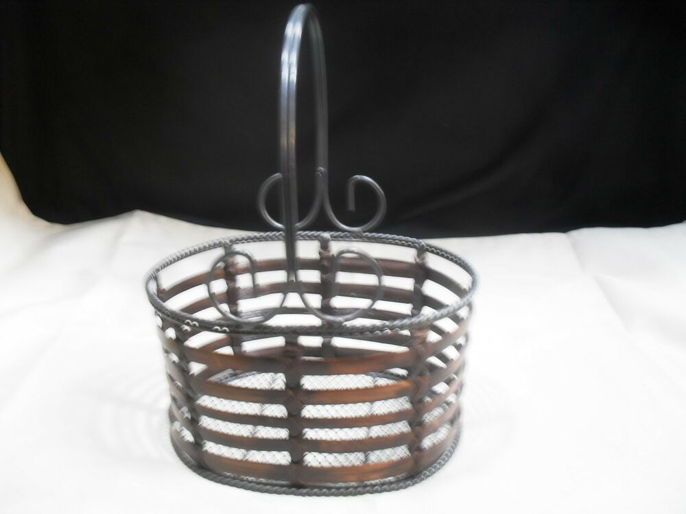 Best Decorative Metal Wire And Wicket Basket Ebay This Month