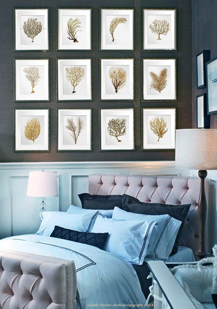 Best Wall Hanging Beach Decor Set Of 12 Sea Coral Art Prints This Month