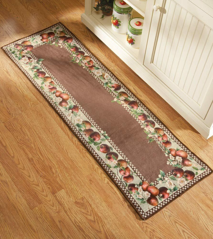 Best Apple Decor Runner Kitchen Rug Country Decor Apple Blossom This Month