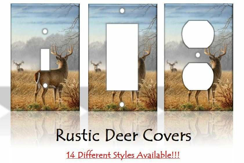 Best Rustic Deer Outdoors Light Switch Covers Home Decor Outlet This Month