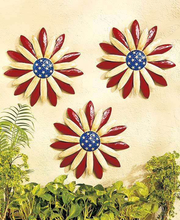 Best Americana Patriotic 3D Flowers Wall Decor Red Blue This Month