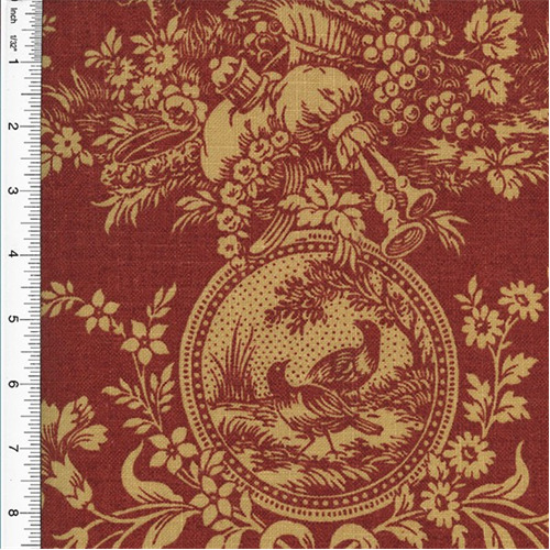 Best Waverly Country House Toile Red Home Decorating Fabric This Month