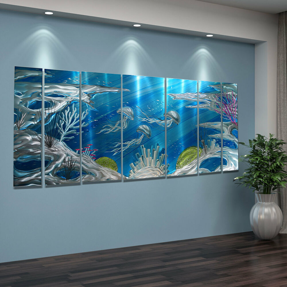 Best Abstract Modern Painting Metal Wall Art Home Decor Deep This Month