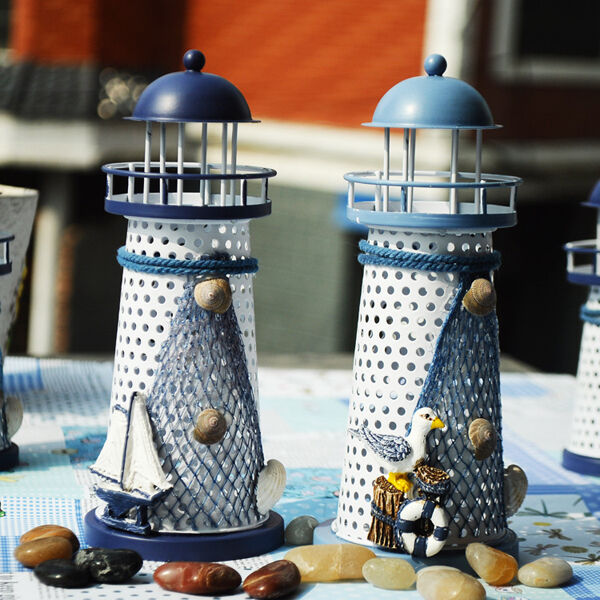 Best 7 Hand Painted Lighthouse Iron Candle Holder This Month