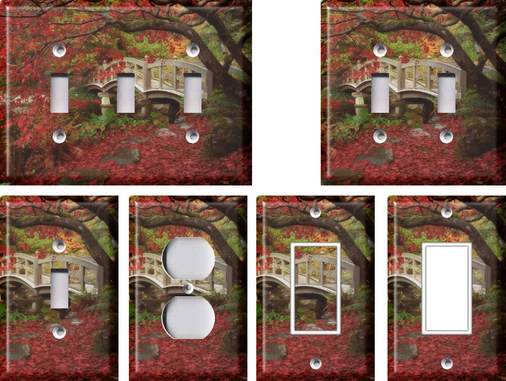 Best Japanese Garden 2 Light Switch Covers Home Decor Outlet This Month