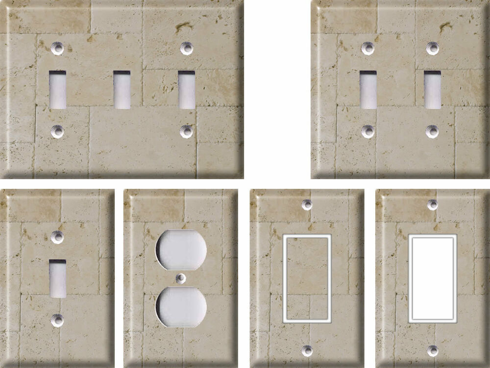Best Stone Pattern 3 Light Switch Covers Home Decor Outlet Ebay This Month