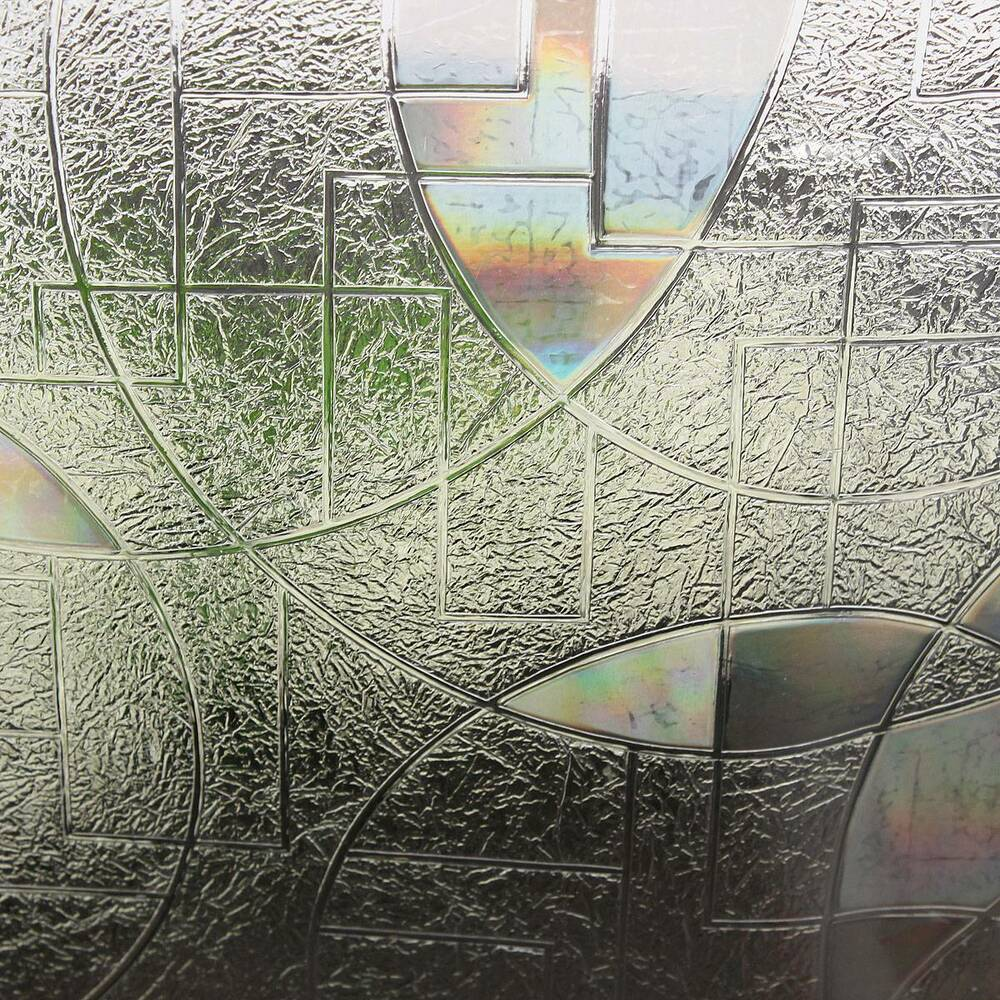 Best 90X50Cm 3D Static Cling Home Window Film Stained Glass This Month