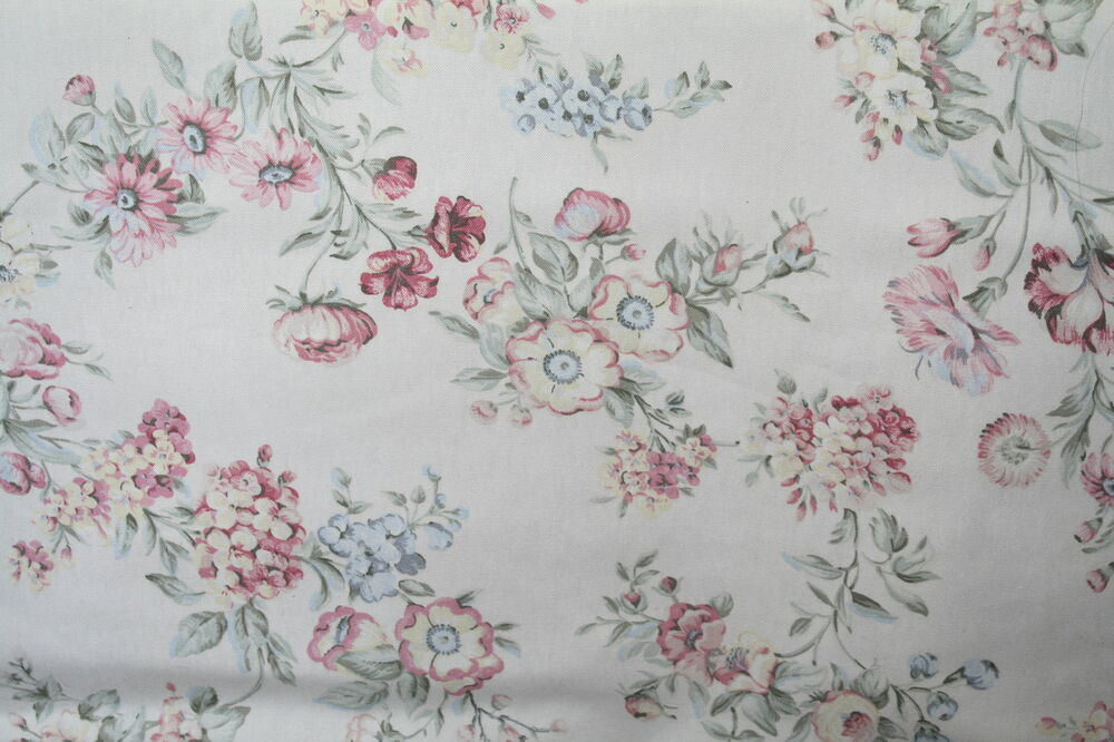 Best Shabby Chic Style Floral Bouquet Decorator Fabric Drapery This Month
