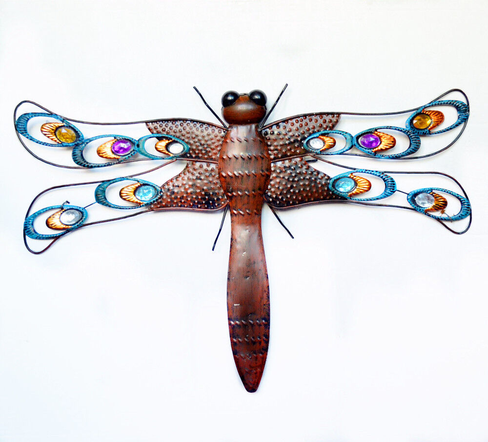 Best Metal Dragonfly Wall Art Garden Wall Dragonfly Sculpture Garden Statues Ebay This Month