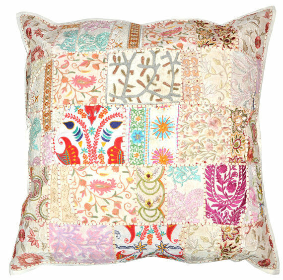 Best 24X24 Xl White Yoga Decorative Patchwork Throw Pillow This Month