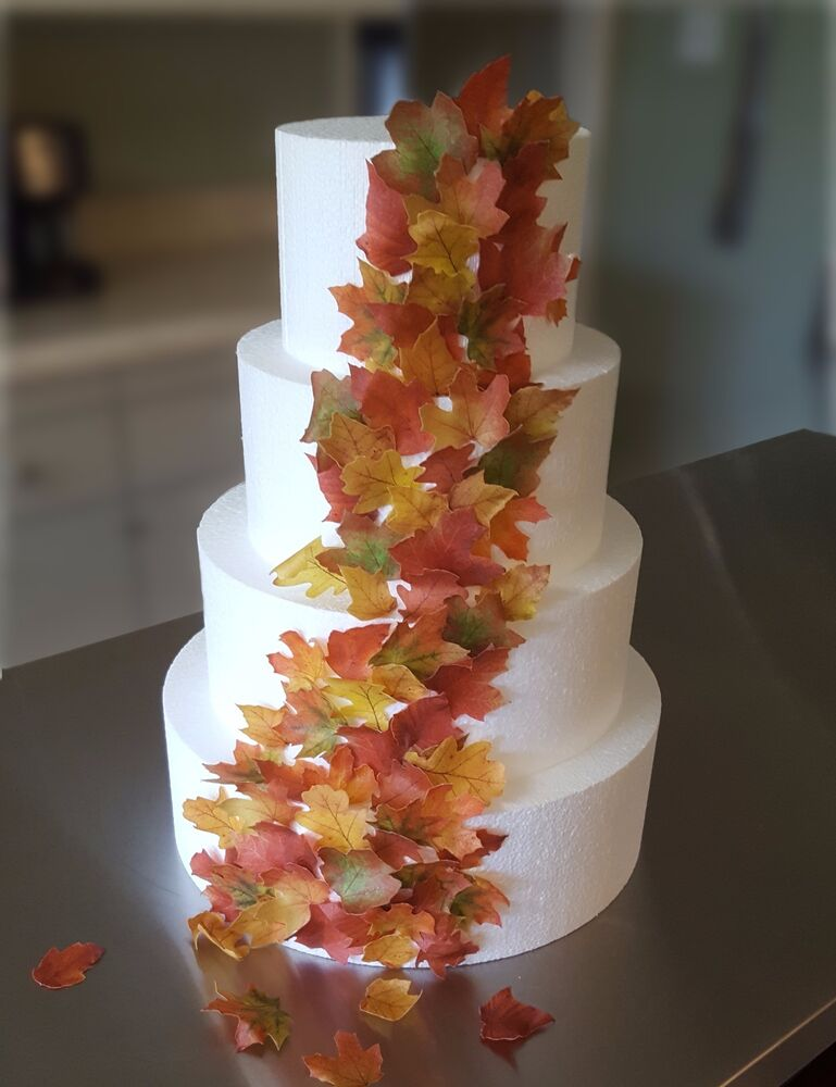 Best Edible Fall Leaves Wafer Paper Decorations For Cakes This Month
