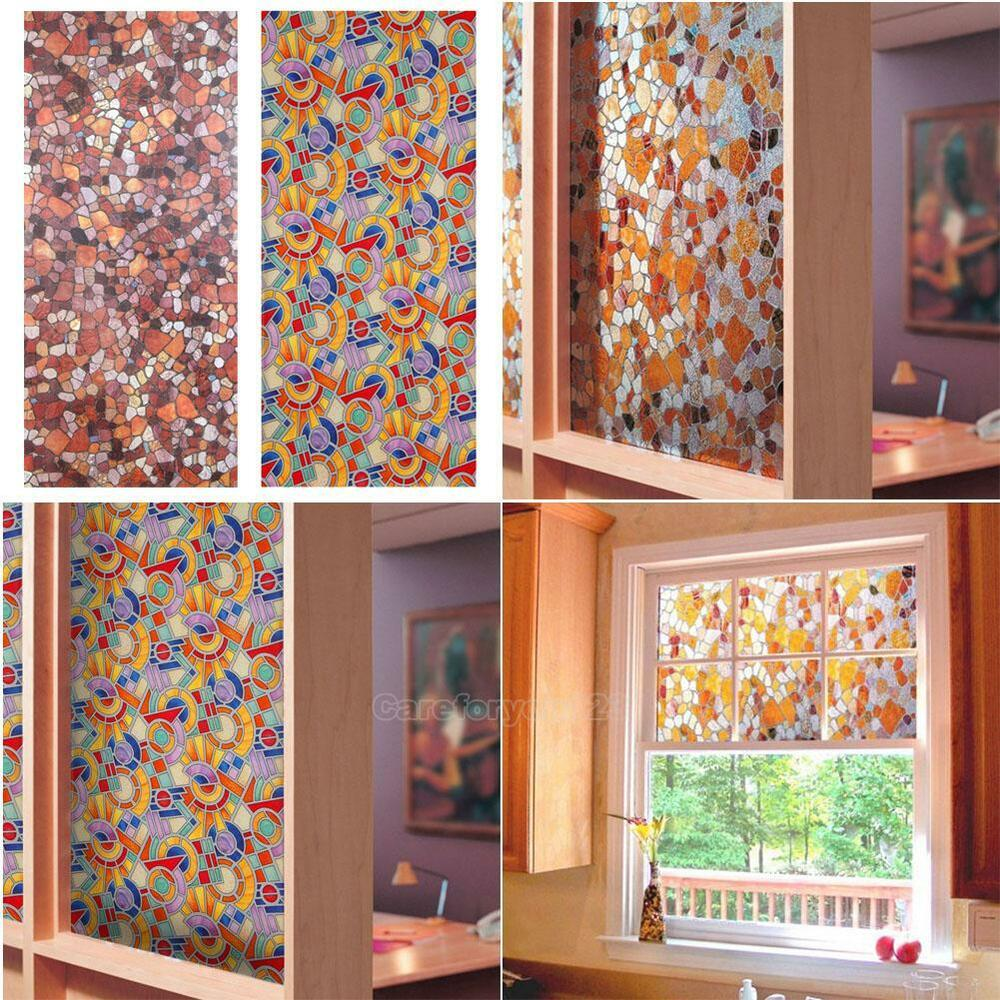 Best 3D Static Cling Stained Glass Paper Frosted Decorative This Month