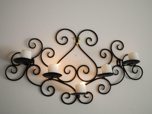 Best Wrought Iron Candle Sconce Holder Wall Decor Black Color This Month
