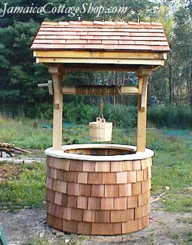 Best Diy Plans 4X4 Wishing Well Decorative Well Cover Yard This Month