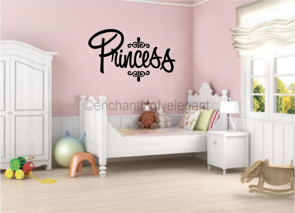 Best Princess Vinyl Decal Wall Sticker Words Lettering Nursery This Month