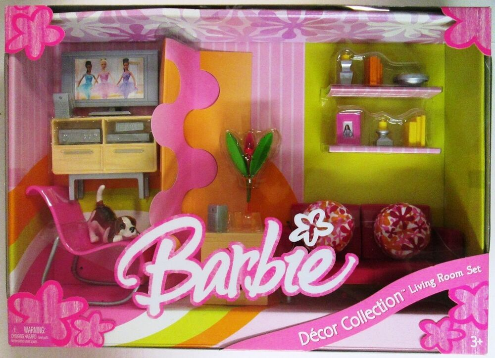 Best Barbie Living Room Set Decor Collection New Ebay This Month