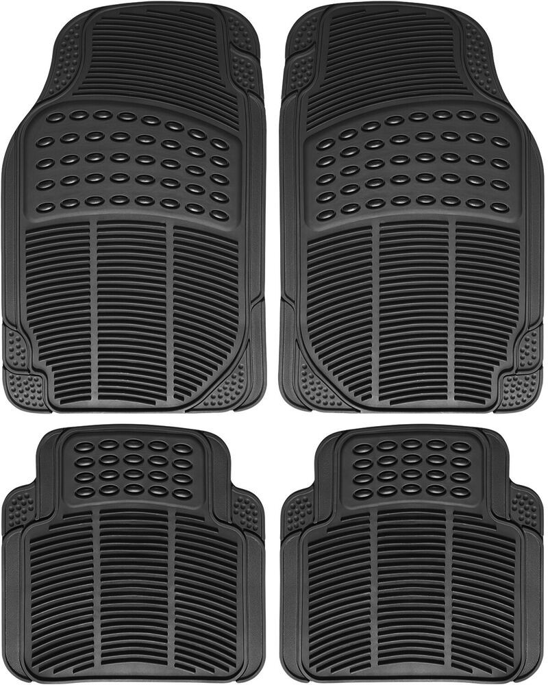 Best Car Floor Mats For All Weather Rubber 4Pc Set Semi Custom This Month
