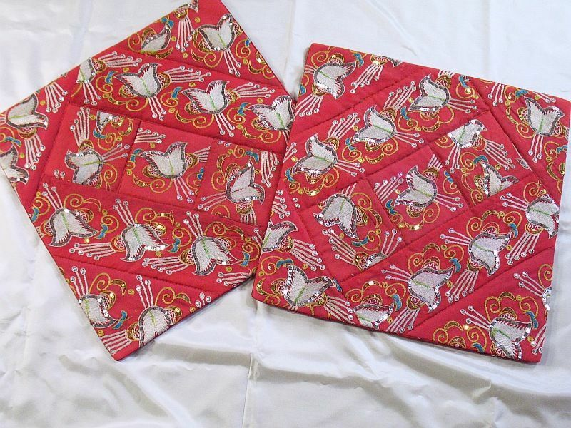 Best 2 Red Indian Large Couch Sofa Decorative Pillow Cases Ebay This Month