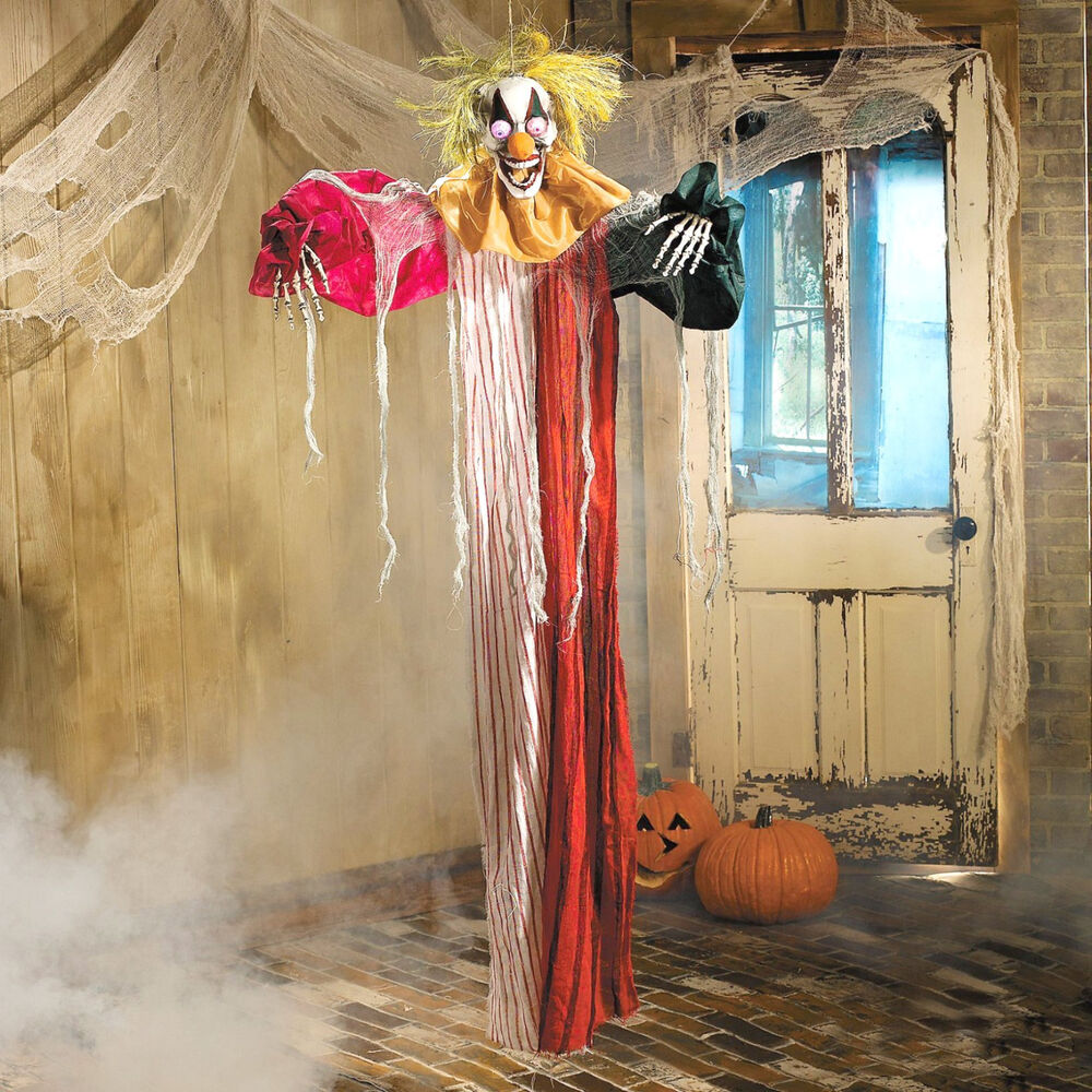 Best 6Ft Hanging Scary Skeleton Clown Light Up Eyes Halloween This Month