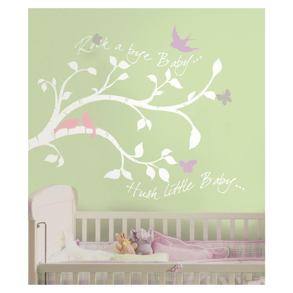 Best White Tree Branches Wall Decals Girl Or Boy Nursery This Month