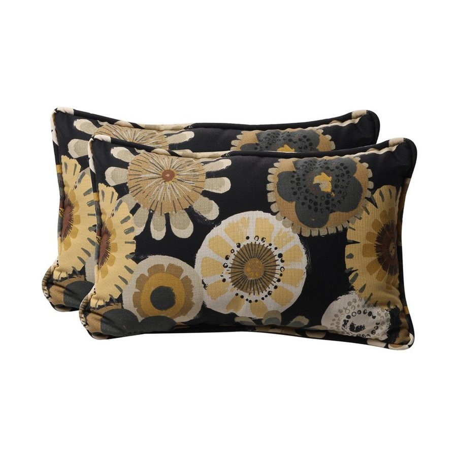 Best Shop Pillow Perfect Crosby 2 Pack Black Floral Rectangular This Month