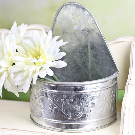 Best Galvanized Embossed Half Round Wall Planter Baskets This Month