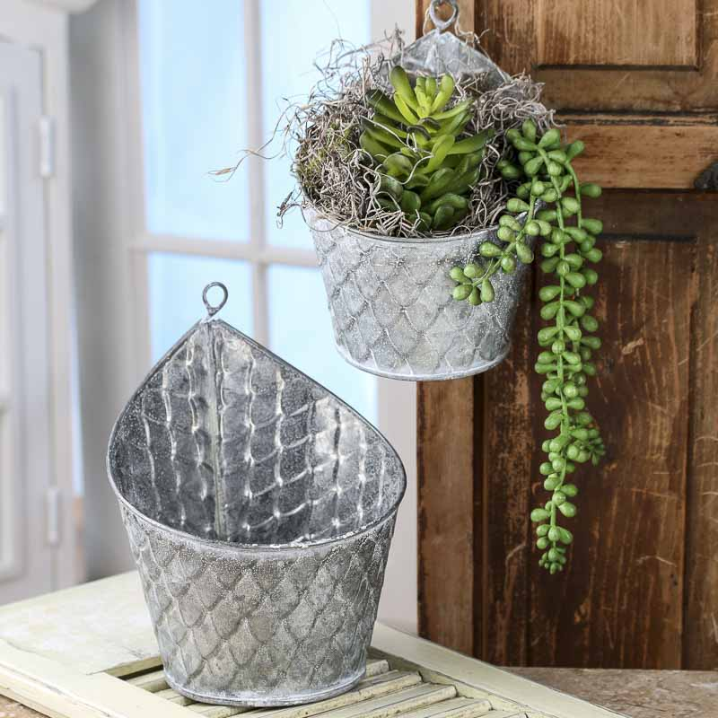 Best Galvanized Hanging Planters Baskets Buckets Boxes This Month
