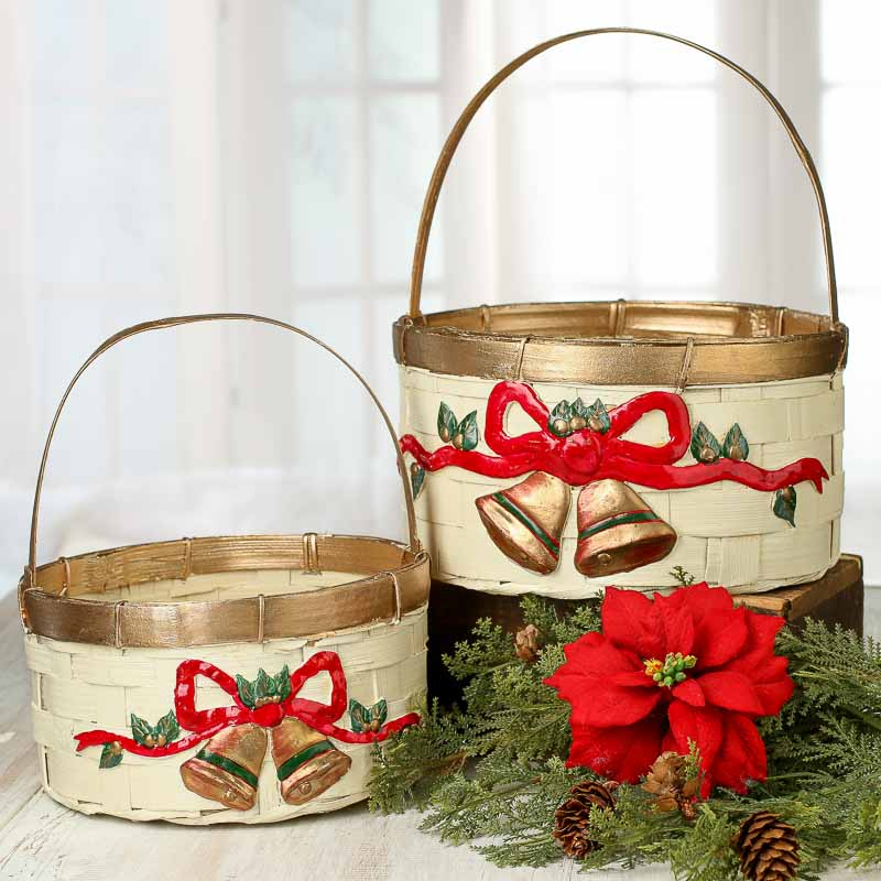 Best Ivory Christmas Wicker Baskets Baskets Buckets Boxes This Month