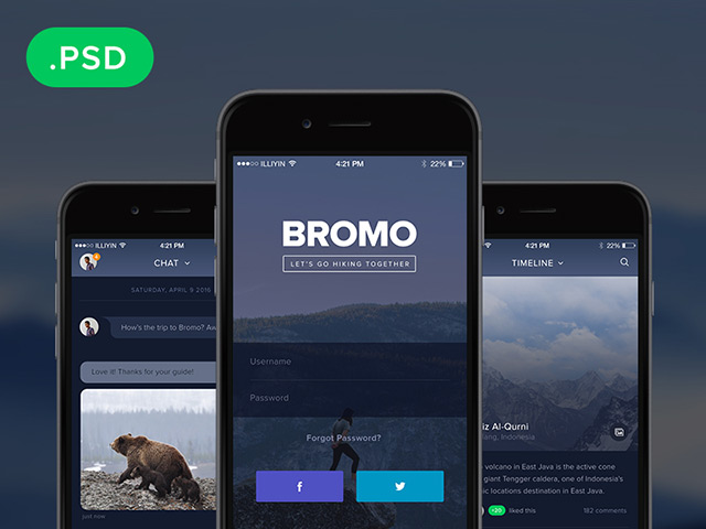Best Bromo Social Mobile App Template Freebiesbug This Month