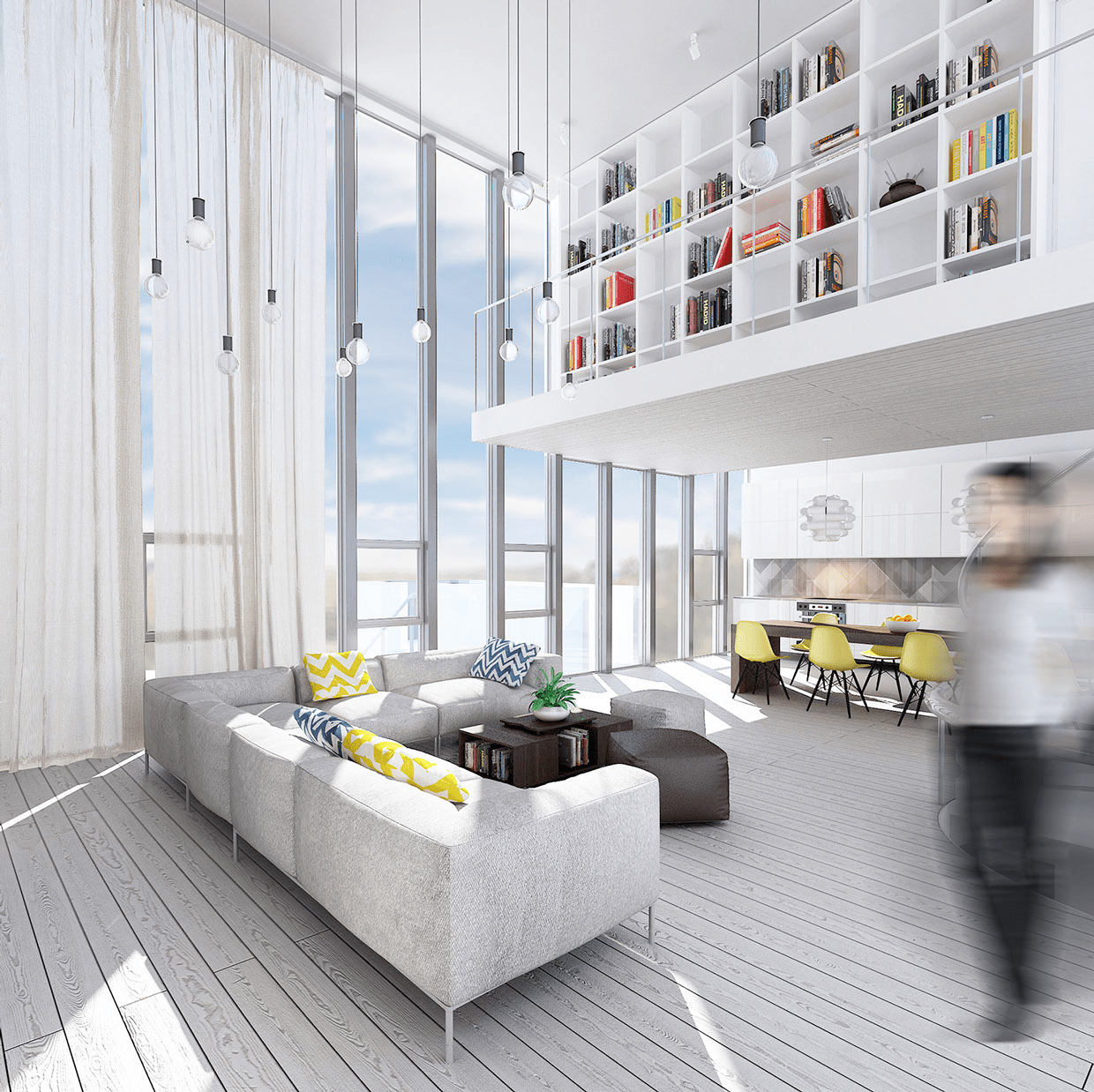 Best Wondrous White Three Lofts With Clean Bright Interiors This Month