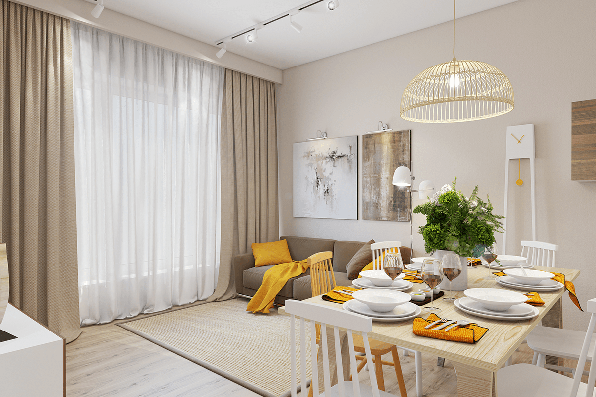 Best 25 Gorgeous Yellow Accent Living Rooms This Month