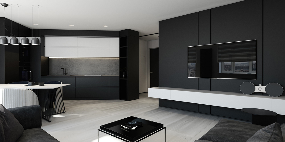 Best 6 Perfectly Minimalistic Black And White Interiors This Month
