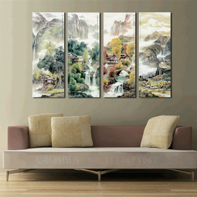 Best Large 4 Piece Canvas Art Cheap Modern Wall Panel Decor 4 This Month
