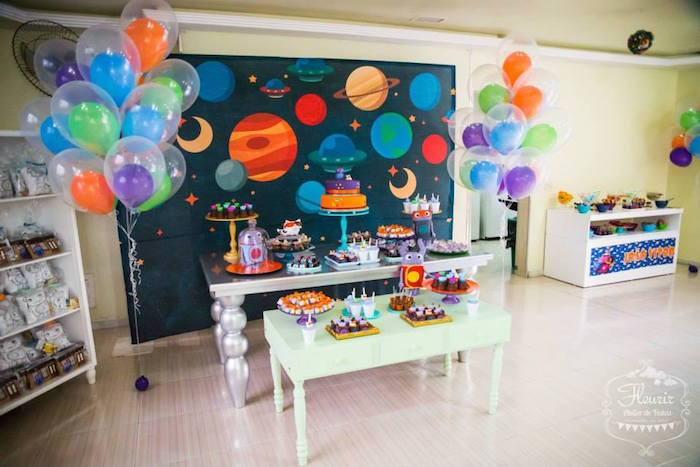 Best Kara S Party Ideas Home Inspired Alien Birthday Party Via This Month