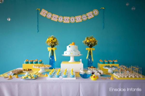 Best Kara S Party Ideas Yellow And Blue Rubber Duckie 1St This Month